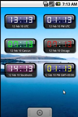 myUTC Clock Widget +World - screenshot