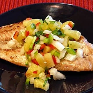 Red Snapper w/ Pineapple Salsa.