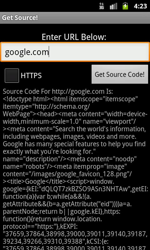 Get Source! - screenshot