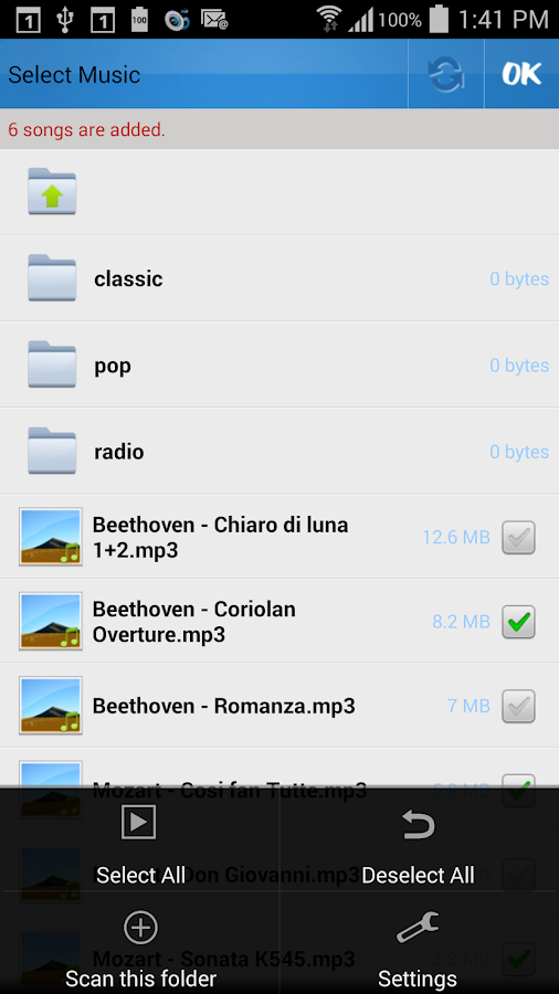 Music Drop 'n Play for Dropbox - screenshot