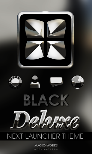 Next Launcher Theme Black D