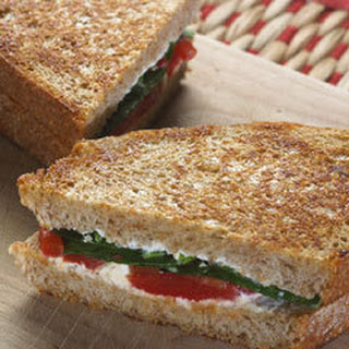 Goat Cheese & Roasted Red Pepper Panini Recipe