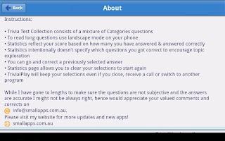 Screenshot of TrivialPlay Lite Trivia