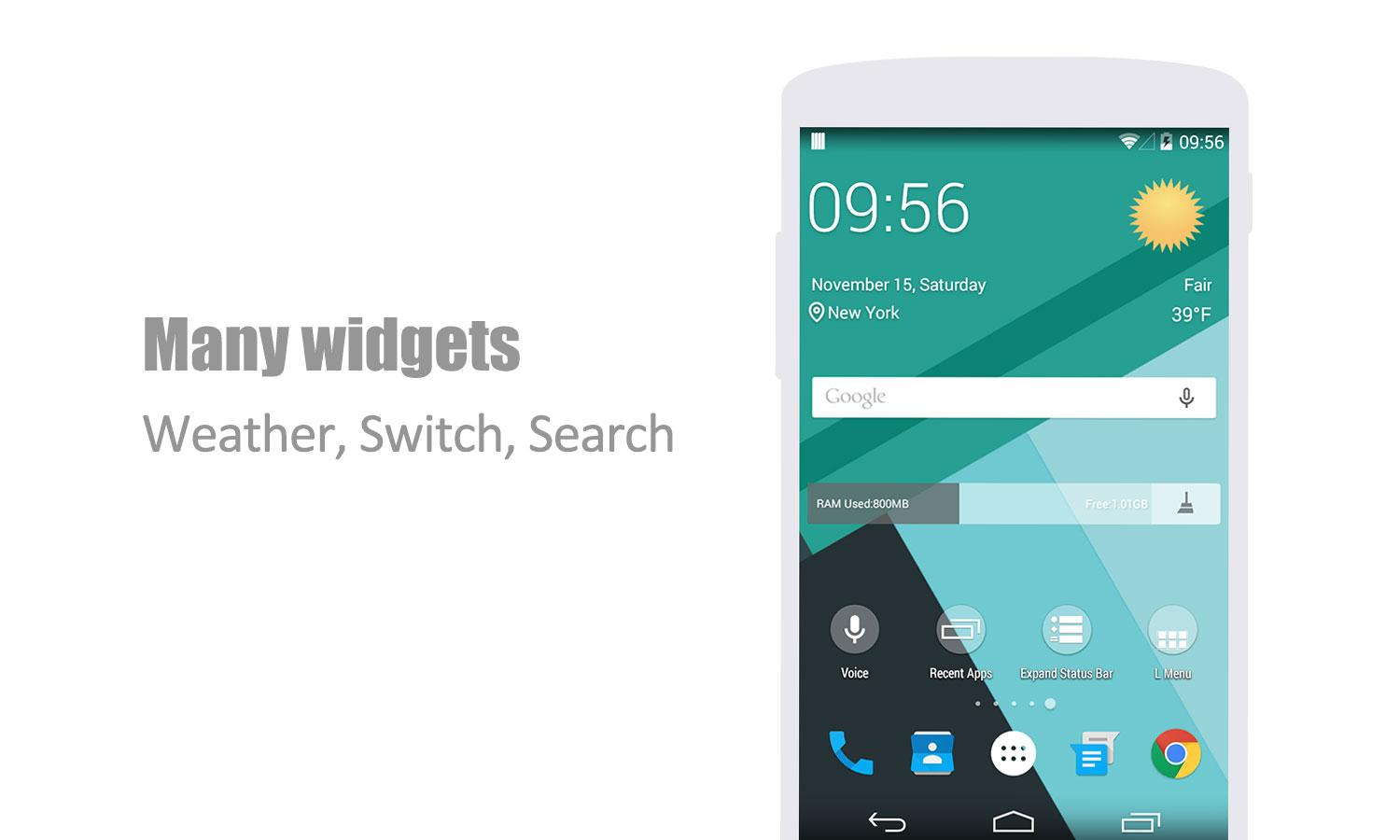 L Launcher – Lollipop Launcher Pro v2.2 APK  به‌رنامه‌ بۆ ئه‌ندرۆید