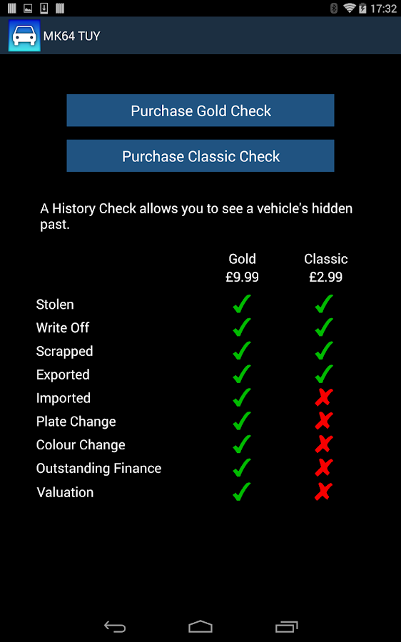 MyCarCheck - screenshot