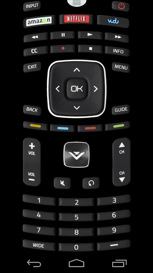 Remote Control for Vizio TV- screenshot