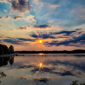 Sunset Blues by Michael Buffington - Landscapes Waterscapes ( sky, waterscape, sunset, landscape, arkansas,  )