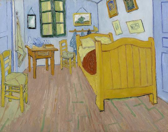 kleurplaat de slaapkamer - van gogh museum, Deco ideeën