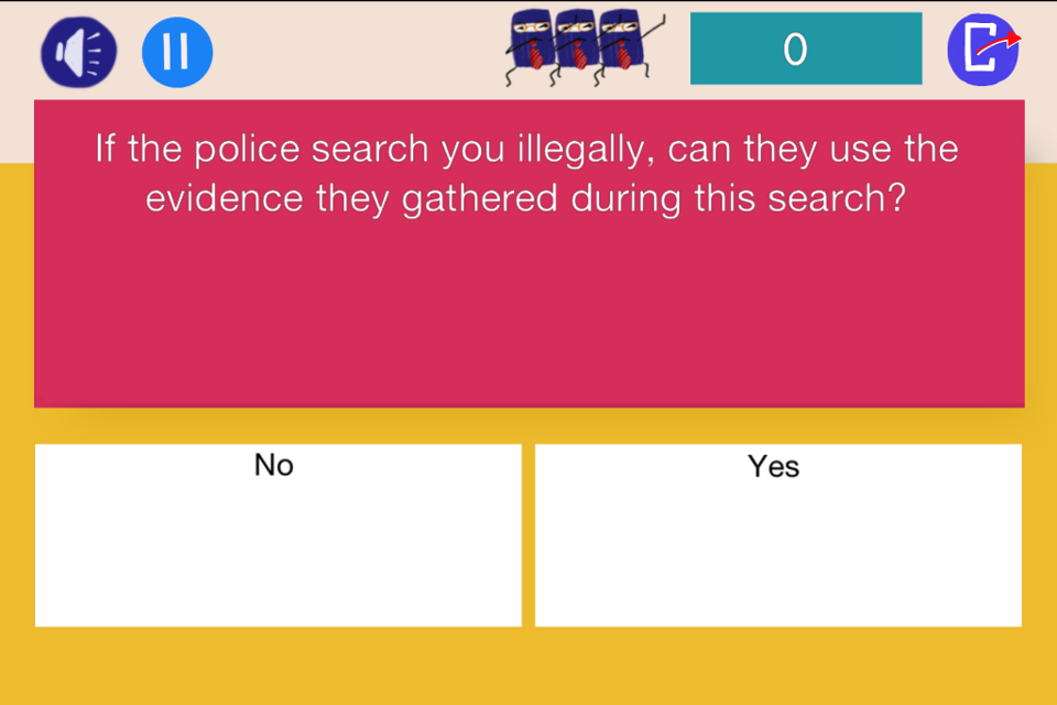 Law Dojo: Know Your Rights - screenshot
