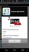 Screenshot of Autorun app monitor