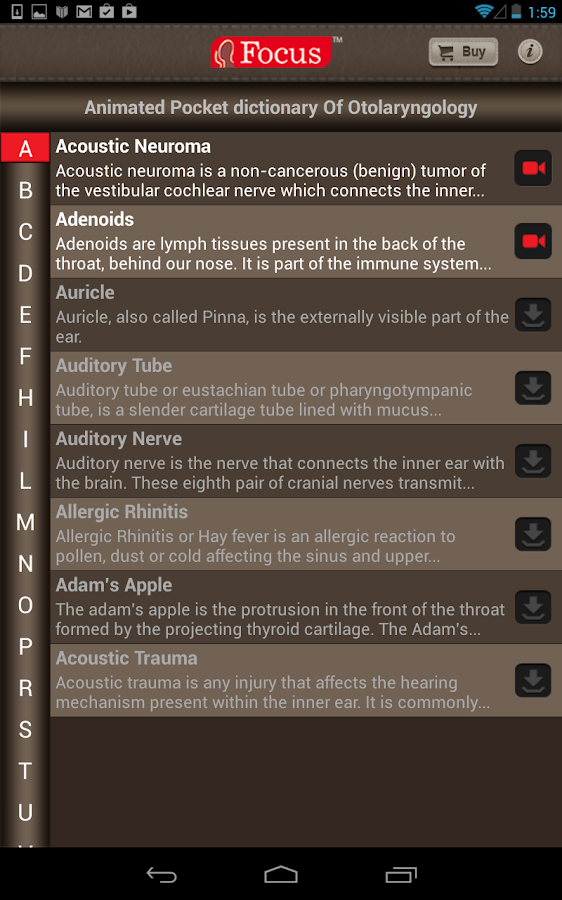 Otolaryngology-Dictionary - screenshot