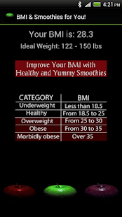 BMI & Smoothies for You - screenshot thumbnail