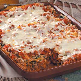 Beef and Spinach Lasagna.