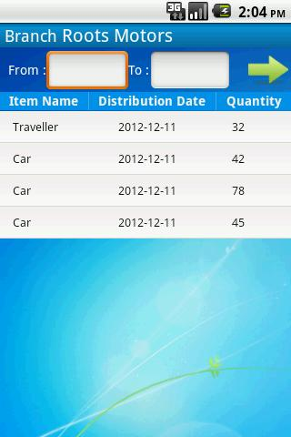 Purchase Distribution - screenshot