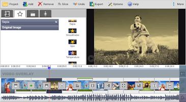 Screenshot of VideoPad Master's Edition