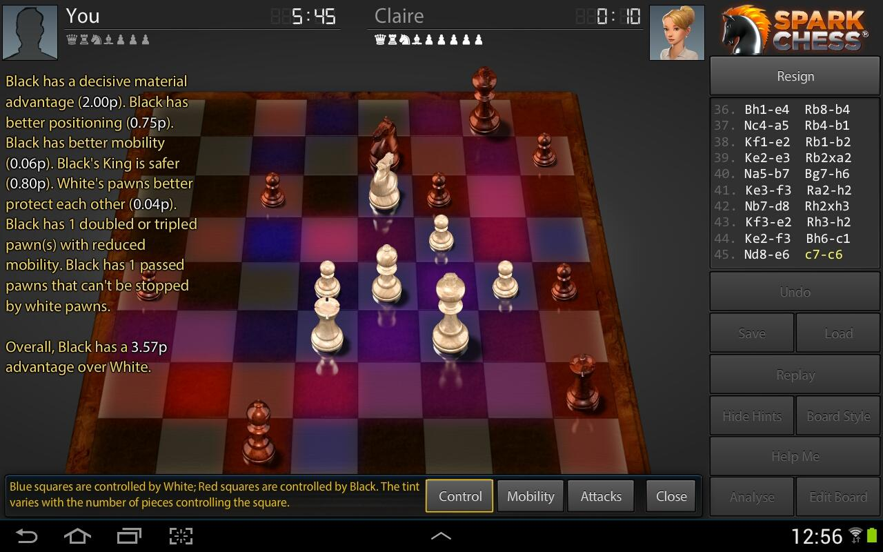 SparkChess HD - screenshot