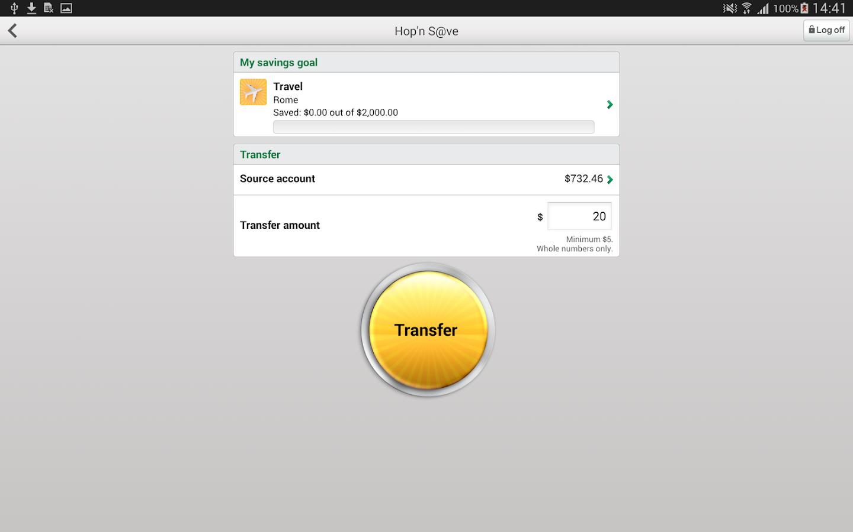 Desjardins mobile services- screenshot