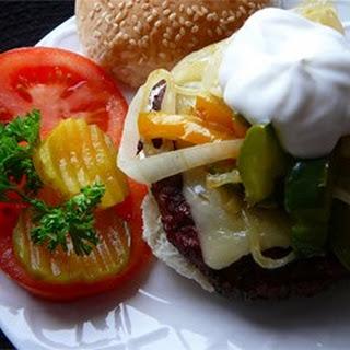 Open-Face Swiss Burger.