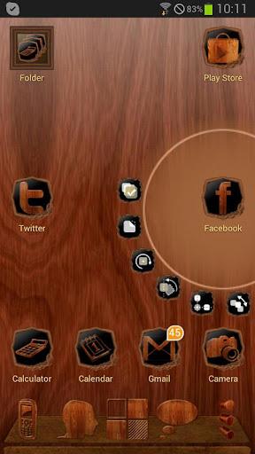 Next Launcher Wood Theme