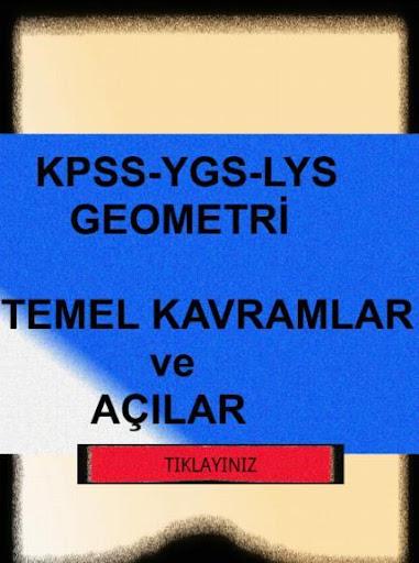 KPSS-YGS-GEOMETRİ- AÇILAR-KVRM