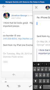 Evomail - Modern Mobile Email - screenshot thumbnail