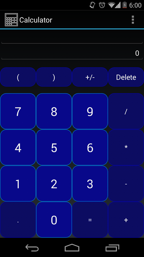 Calculator- screenshot