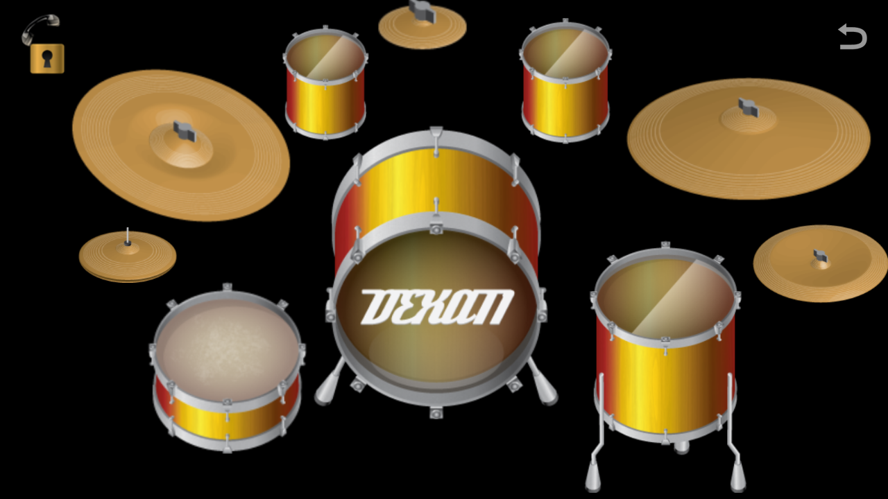 Virtual Drum Set - screenshot