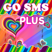 GOSMS Theme+ Pink Groovy Heart