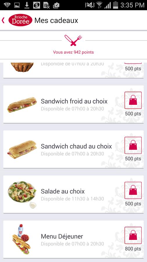 Brioche Dorée - screenshot