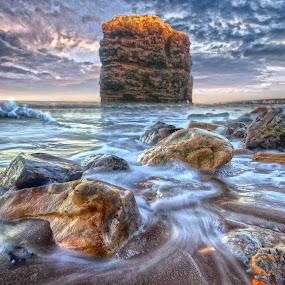 by BethSheba Ashe - Landscapes Beaches ( marsdon rock )