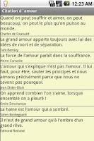 Screenshot of Citation d'amour