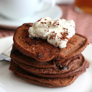 Chocolate Chocolate Chip Pancakes – Low Carb and Gluten-Free.