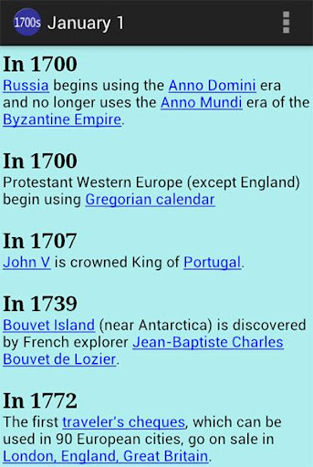 On This Day 1700s