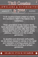 Screenshot of Cousins Jewellers