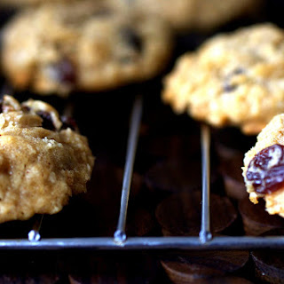 Thick, Chewy Oatmeal Raisin Cookies.