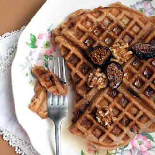 Cinnamon Walnut Fig Waffles.