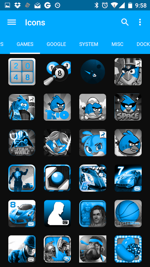 SteelBlue Icon Pack- screenshot