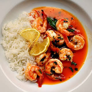 Thai Shrimp, Made with Powdered Coconut Milk.