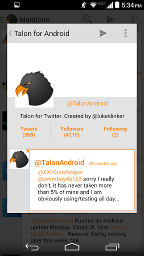 Orange White Theme for Talon