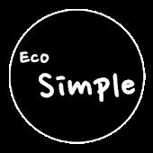 카카오톡 테마 - Eco Simple Black v1