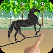 Wild Horse Scribble Race
