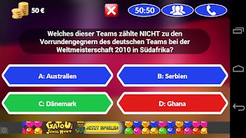 Screenshot of Fussball Quiz 2014