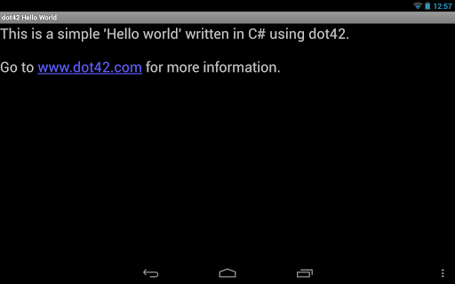 dot42 Hello World