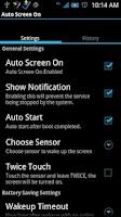 Screenshot of Auto Screen On