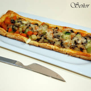 Vegetables on Puff Pastry.