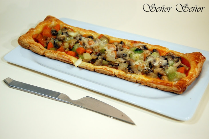 Vegetables on Puff Pastry Recipe