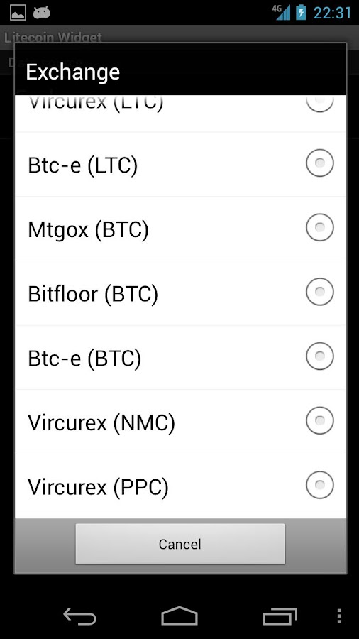 Litecoin Widget - screenshot