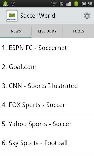 Soccer World - News Liveodds