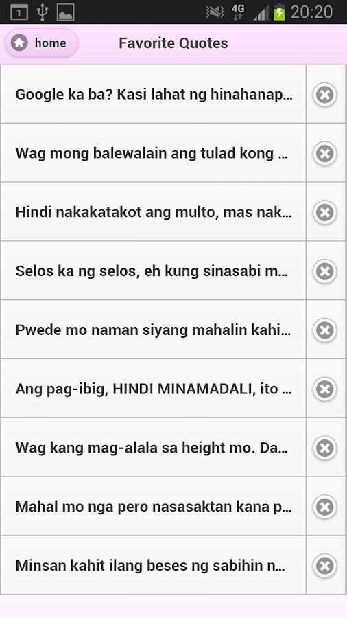 Tagalog Love Quotes - screenshot