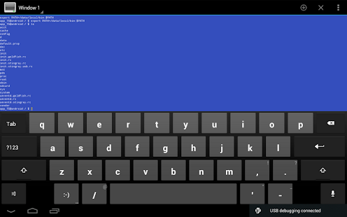 Terminal Emulator for Android: miniatura de captura de pantalla